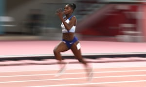 Dina Asher-Smith of Great Britain competes in the women's 200 metres final.