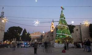 Bethlehem's Manger Square, where authorities have cancelled many festivities amid continuing violence.