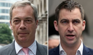 Nigel Farage (left) and Brendan Cox.