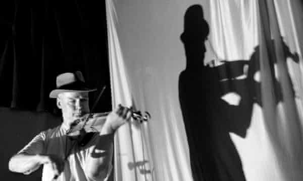 Tony Conrad performs at the Black Cat in New York.