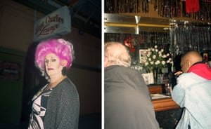 Left: Collette LeGrande, a 68-year-old performer, used to visit Compton's as a teen, and Aunt Charlie's, a popular queer bar, where Colette sometimes performs.