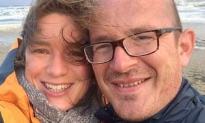 Jeroen Ensink with his wife, Nadja