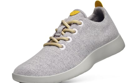 An Allbirds wool trainer. Allbirds is one US brand working directly with sheep farmers in New Zealand to source high-quality wool for a range of shoes for both winter and summer.