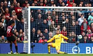 Bournemouth's Junior Stanislas scores their fifth goal.