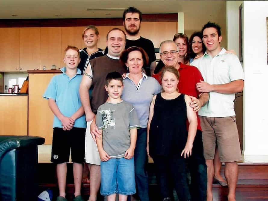 Nunzio and Maureen Gambale with their sons and first grandchildren in 2008