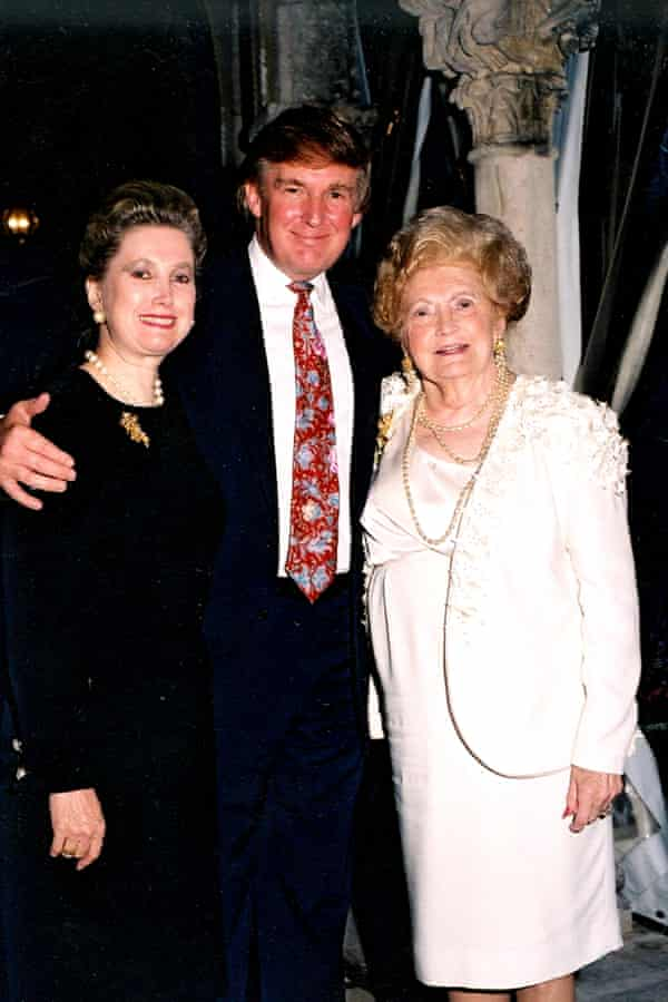Donald Trump with his sister and mother at Mar-a-Lago in 1995.