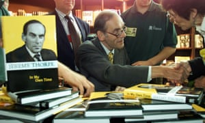 Jeremy Thorpe at the book launch of his autobiography at the Lib Dem conference in 1999.