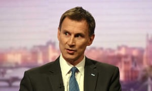 Jeremy Hunt on the BBC's Andrew Marr Show.