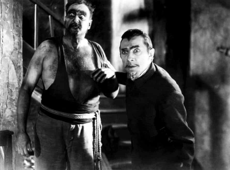 Frederick Peters and Bela Lugosi in White Zombie.