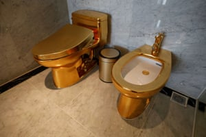 Hanoi, Vietnam A gold plated toilet and bidet are available at the newly-inaugurated Dolce Hanoi Golden Lake hotel