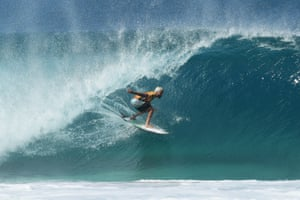 Haleiwa, Hawaii Italo Ferreira of Brazil rides a wave at the Billabong Pipe Masters