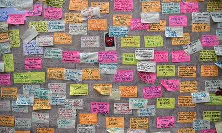 Messages of support and condolence on London Bridge after the 3 June terrorist attack.