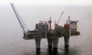 The Troll gas platform, 70 km off the coast of Norway
