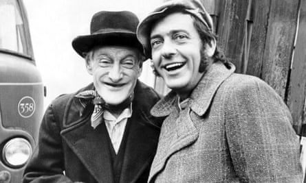 Wilfrid Brambell, left, and Harry H Corbett in Steptoe and Son, 1970, written by Galton and Simpson.