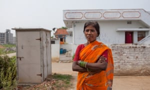 Bio-toilet user Kandenku Swaroopa.