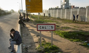 Migrant Camp in Calais, known as 'The Jungle'