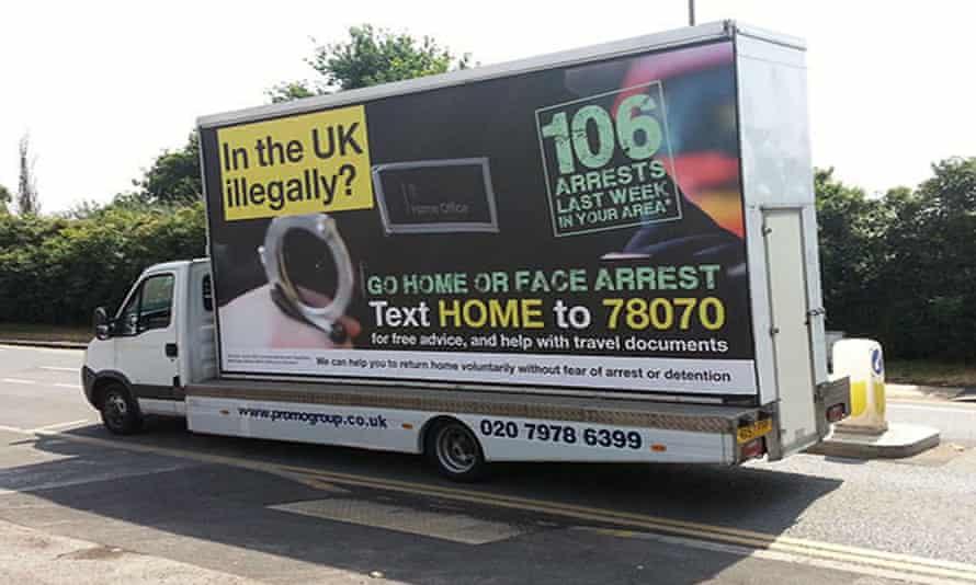 The UK Home Office's 'Go Home' vans, 2013.