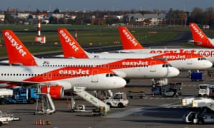 About 4,000 of easyJet's 9,000 UK staff will be furloughed for at least two months from 1 April.