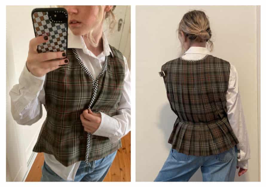 Georgia Robinson's completed pleated vest