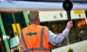 A Southern rail train conductor.