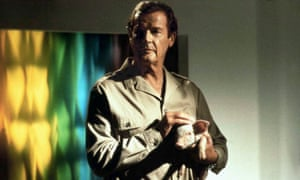 Roger Moore and Pig in Spice World, 1997