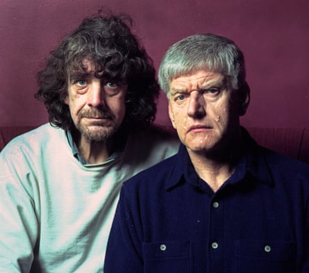 Dave Prowse, left, with fellow Star Wars actor Peter Mayhew, who played Chewbacca.
