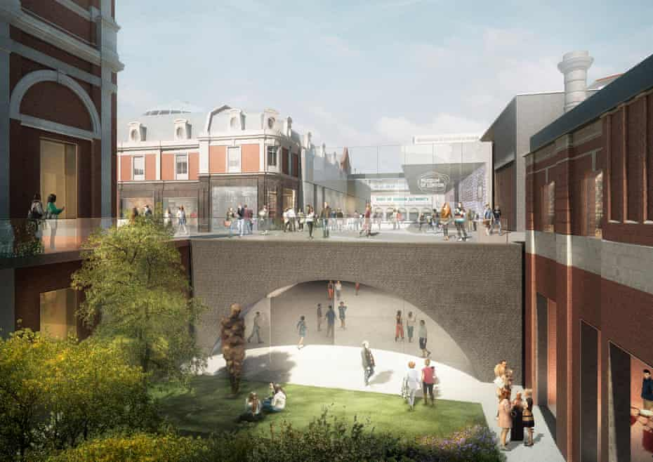 A CGI of the outside of the new museum by Stanton Williams and Asif Khan.