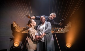 Alice Krige, Nobuhle Mngcwengi and William Close in Persona.