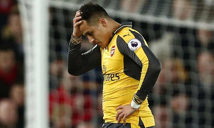 Alexis Sánchez, after coming on from the bench during Arsenal's defeat at Liverpool.