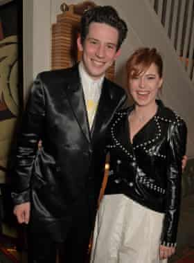Josh O'Connor and Jessie Buckley attend the Charles Finch & CHANEL Pre-BAFTA Party at 5 Hertford Street on February 1, 2020 in London, England