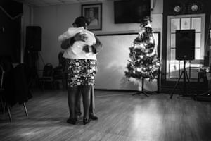 Bockie and Lorraine dance together, from Windrush generation portraits by Jim Grover