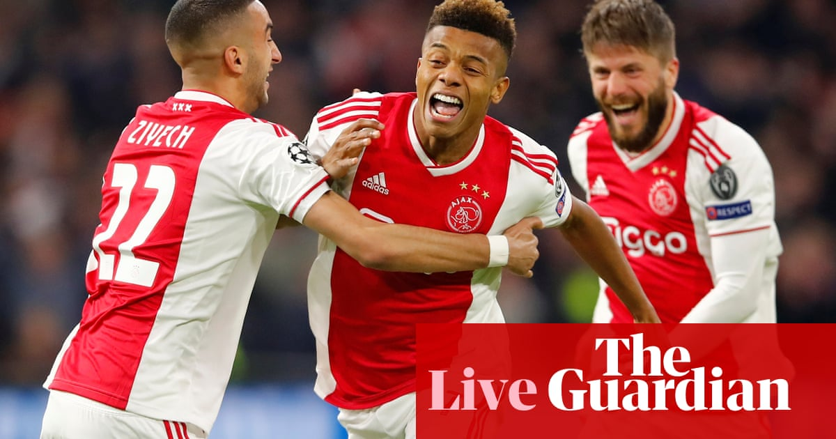 Ajax v Juventus: Champions League quarter-final, first leg – live! - The Guardian