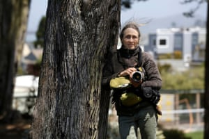 Janet Kessler in Golden Gate Park. She goes in search of coyotes almost every day.