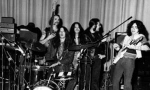 'Virtuosos who hated virtuosity': (l-r) Holger Czukay, Michael Karoli, Damo Suzuki, Irmin Schmidt and Jaki Liebezeit of Can circa 1972.