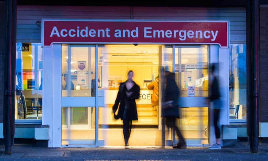 The A&E department at  University Hospital of North Tees in Stockton on Tees, England