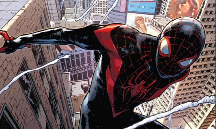 detail from the Spider-Man #1 cover