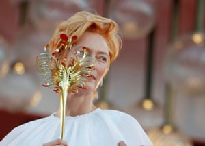 Venice, ItalyTilda Swinton poses on the red carpet at the opening of the Venice Film Festival