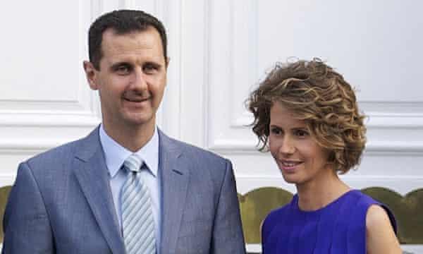 President Bashar al-Assad and his wife, Asma