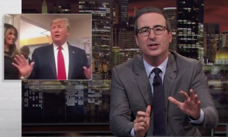 John Oliver: 'We all know how Trump struggles to do the bare minimum of being a president but it's still genuinely shocking just how much he struggles to do the bare minimum of being a fucking person.'