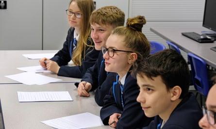 Pupils enjoying lessons at Beacon academy.