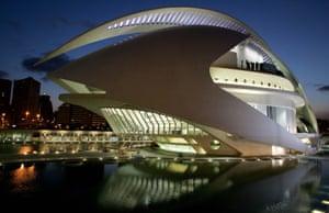 Creative spending … Valencia's Palau de les Arts Reina Sofia opera house.