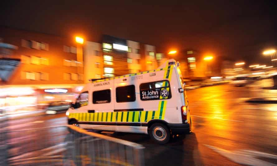 A St John Ambulance leaves Royal Liverpool hospital
