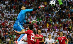 Iran's goalkeeper Alireza Beiranvand had an excellent World Cup and was unfortunate to concede against Spain.