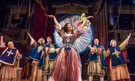 Gemma Arterton, centre, in Nell Gwynn by Jessica Swale at the Apollo theatre.