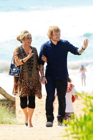 Sheeran with Emily Symons.