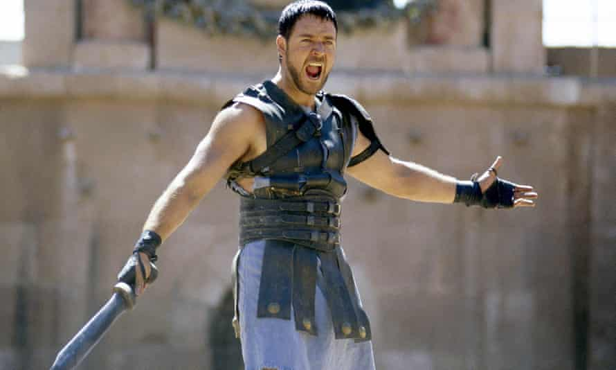 Paradise shmaradise … Russell Crowe as Maximus in Gladiator.