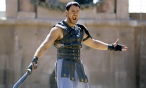 Russell Crowe in Gladiator. The film made $460m worldwide and won five Oscars.