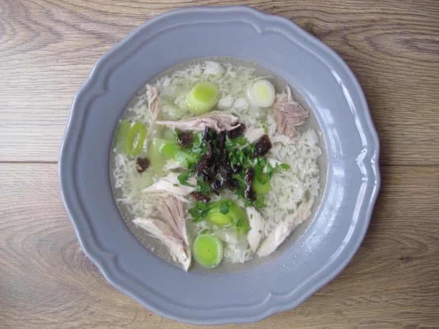 Tom Kitchin's cock-a-leekie soup