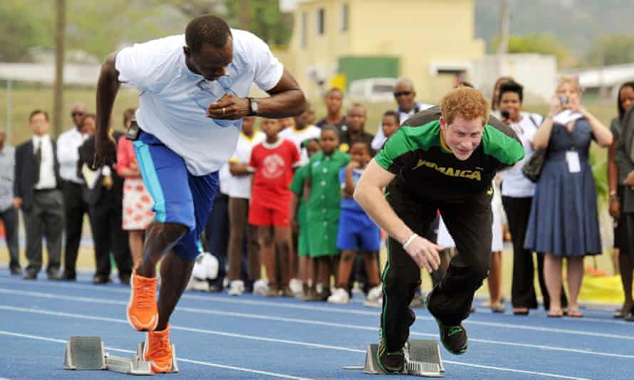 Usain Bolt and Prince Harry