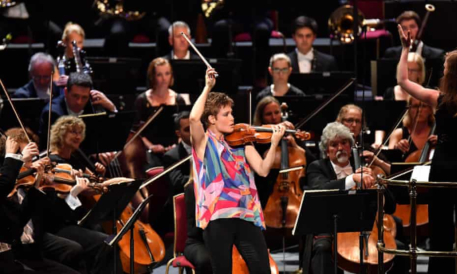 Leila Josefowicz performs Stravinsky's Violin Concerto with the City of Birmingham Symphony Orchestra, conducted by Mirga Gražinytė-Tyla at the 2017 BBC Proms.